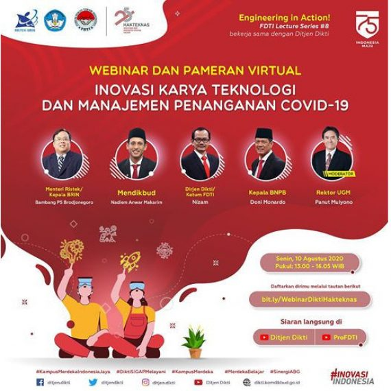 Dekan Fakultas Teknik Universitas Riau Ketua Webiner & Pameran Teknologi Virtual Pada Harteknas Ke 25